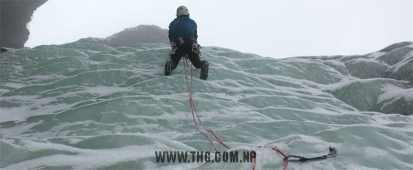 Jean Coudery Waterfall Ice Climbing