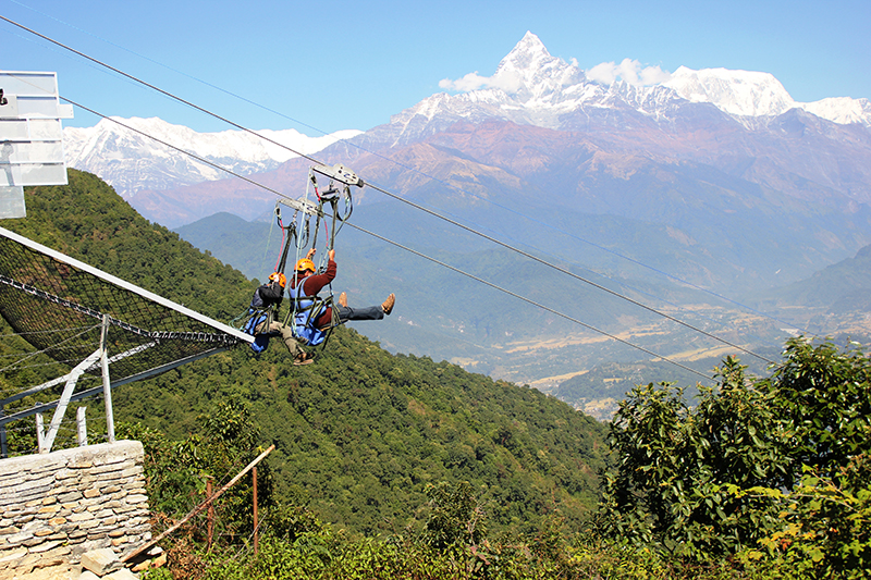 Zip fly in Pokhara